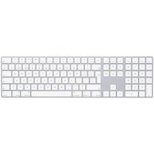 Magic Keyboard med numeriske taster – dansk – sølv